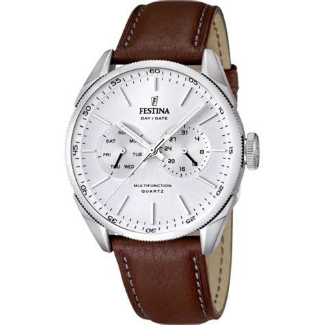 montre festina cuir retro f16629 1 homme sur bijourama montre homme pas cher en ligne