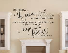 Bible Verse Stickers For Walls wall decals amp bible verse decals jeremiah 29 11 wall decal bible