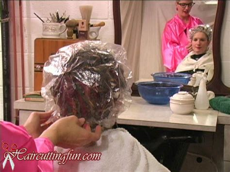 sissy perms at the salon photo from the 1950 s deb cold wave perm video found at