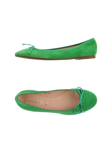 green shoes flats sweet ballerina ballet flats in green light green lyst