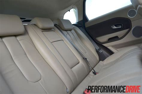 range rover evoque back seat space range rover evoque sd4 review performancedrive