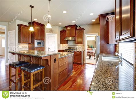 kitchen room photo modern kitchen room with oak cabinets stock photo image 39453159