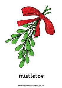 christmas mistletoe poster