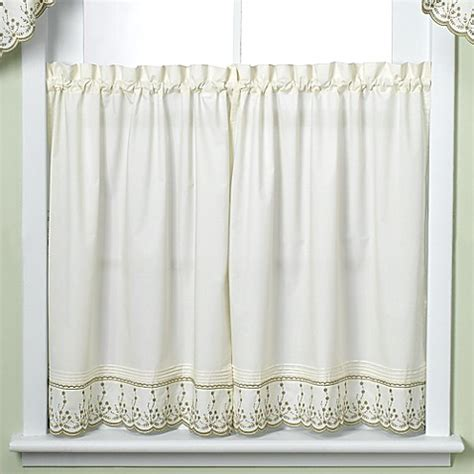 24 Inch Tier Curtains Buy Abby Kitchen 24 Inch Window Curtain Tier Pair From Bed Bath Beyond