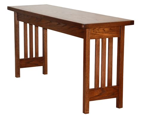 mission oak sofa table mission style sofa tables amish mission sofa table