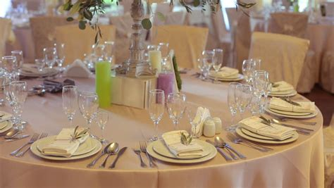 wedding decoration video download decorated table for a wedding dinner stock footage video