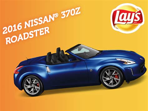 Frito Lay Sweepstakes 2015 - expiring soon win a nissan 174 37oz roadster from lay s blissxo com