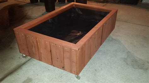 Planter Box With Wheels by Casters Curtis Custom Planters