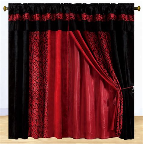 Black And Drapes New Luxury Safarina Drapes Black Zebra Animal Valance