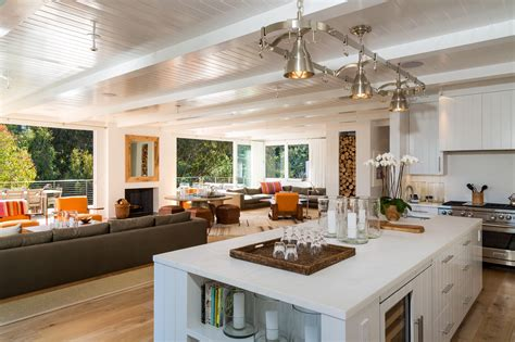 Large Square Kitchen Island Cindy Crawford And Rande Gerber List Their Malibu House