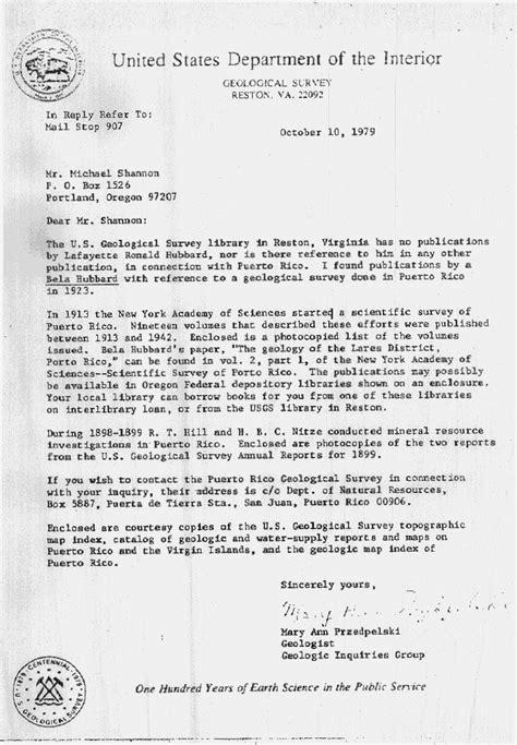 Department Of Interior Reston Va 63 letter from the u s department of the interior geological survey in reston virginia 22092