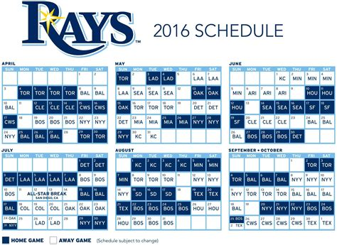rays open 2016 schedule at home dodgers giants to visit