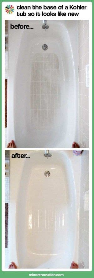home remedies for bathroom cleaning how to clean kohler tub home remedies pinterest