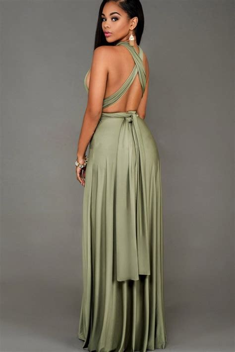 Dress Army Maxi army green sleeveless maxi dress 027669