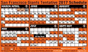 giants home schedule 2017 san francisco giants baseball almost here cordon