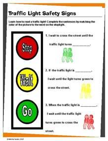 traffic rules worksheet clipart best