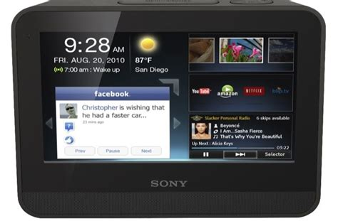 Tablet Sony 7 Inch sony dash 7 inch tablet gets chumby webapps