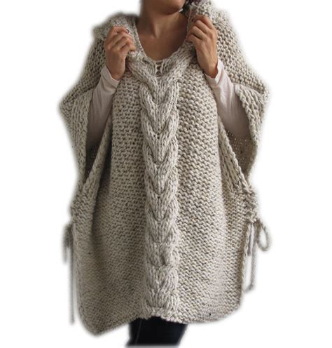knitted poncho for 50 clearence tweed beige knitted poncho with