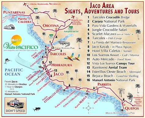 Hotel Vista Pacifico, Jaco, Costa Rica, Day Trips, Tours