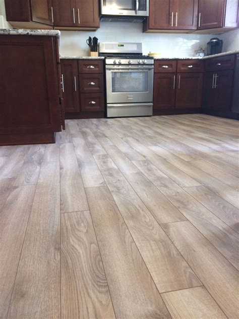 cherry kitchen cabinets kitchens with grey floors kitchen grey floors delaware bay driftwood floor from lumber
