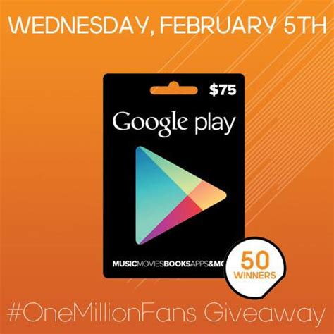Google Play Giveaway - free 75 google play gift card giveaway 50 winners 1 day giveaway heavenly steals