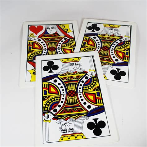 Jumbo 3 Card Monte Import dave powell jumbo three card monte magic collectibles
