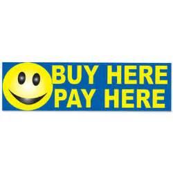 Buy Here Pay Here Buy Here Pay Here Smiley Banner