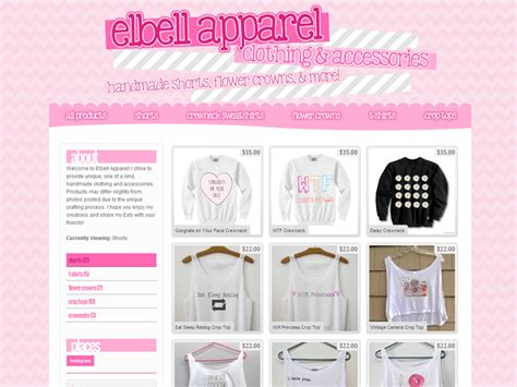 Storenvy Themes | custom storenvy theme 183 oh delectable 183 online store