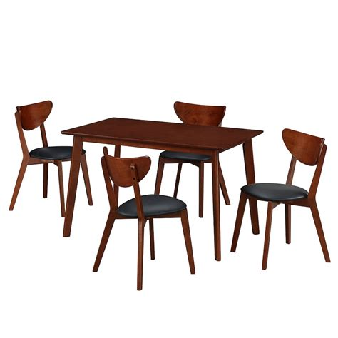 modern dining table and chairs set modern wood dining room table and chair 5 set