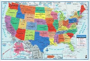 large united states wall map usa united states map poster size wall decoration large