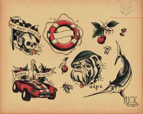 old school tattoo flash school images designs