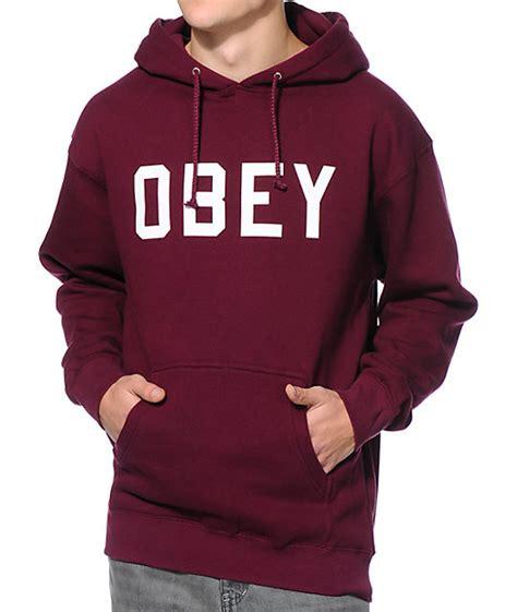 Get Mendess Charitable And Hoodie by Obey Collegiate Burgundy Pullover Hoodie Zumiez