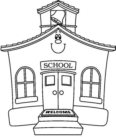 Sketches School by Coloring Pages Of School Buildings Coloring Pages