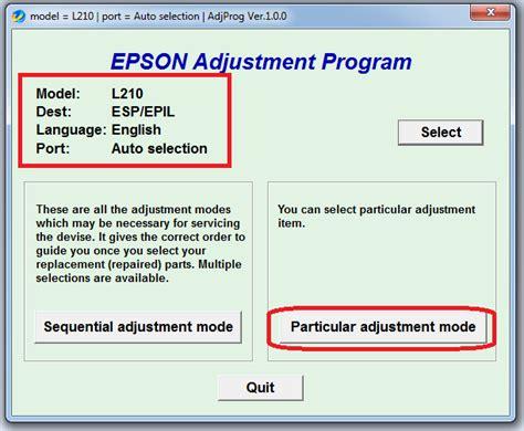 Printer Epson L210 Dan L350 panduan lengkap reset printer epson l110 l210 l300 l350