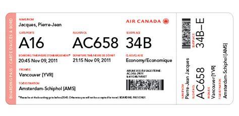 Book Self Design by Air Canada Boarding Pass Redesign Alex