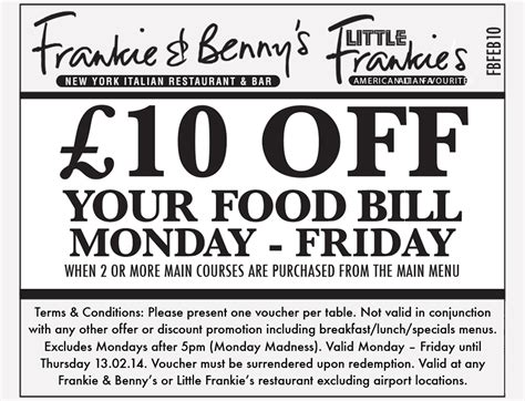 printable vouchers frankie and bennys frankie and benny s 163 10 off voucher glasgow fort