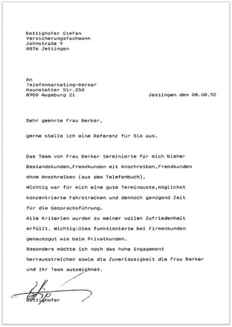 Anschreiben Firma Zusammenarbeit Berrin Berker Unternehmensberatung Pers 246 Nlichkeitsentwicklung Telefonschulung
