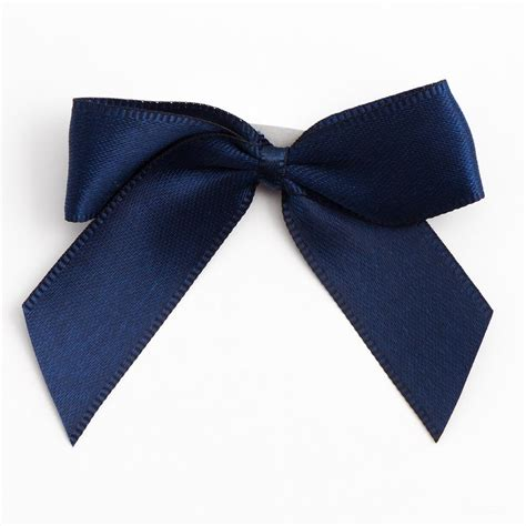 navy blue navy blue self adhesive satin ribbon satin bows favour this