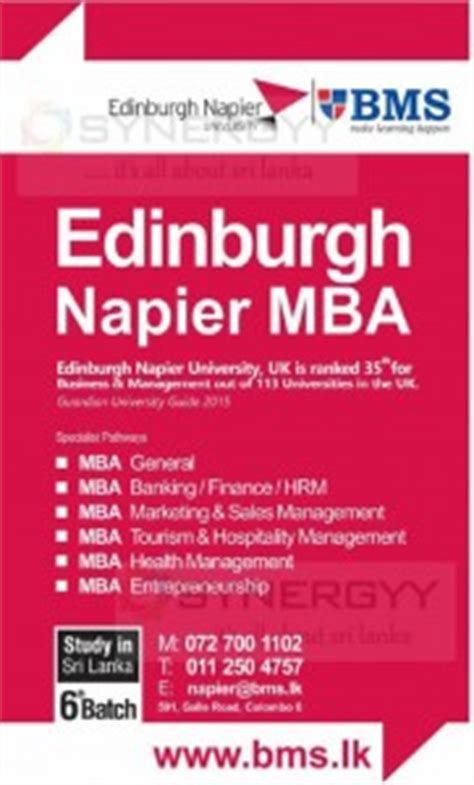 Mba In Business Management In Sri Lanka by Edinburgh Mba In Sri Lanka Education Synergyy