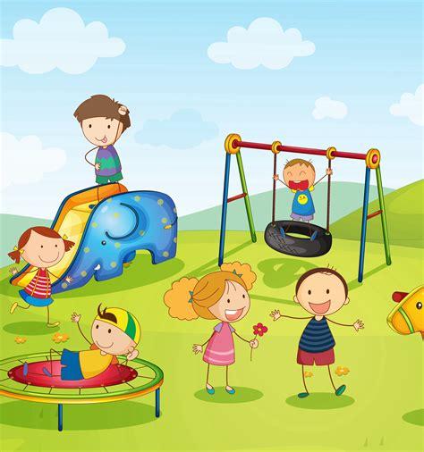 Imagenes De Niños Jugando En Un Parque | dibujos de ni 241 os jugando en el parque imagui