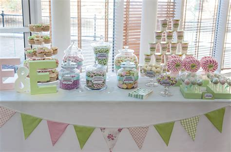 Christening Candy Buffet Antonia S Cakes Pink And Green Buffet