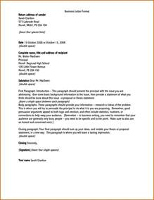 Business Letter Format With Return Address how to write a formal letter address lease template