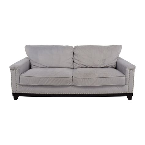 gray studded sofa grey studded sofa 64 off coaster furniture grey microfiber