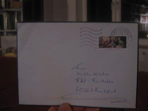 Beschriftung Umschlag Trauerkarte by In Der Sache Horst Koegler Mit Oe Aufforderung Zum Tanz