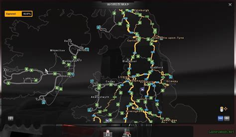 ets2 uk map reino unido irlanda map 187 gamesmods net fs17 cnc