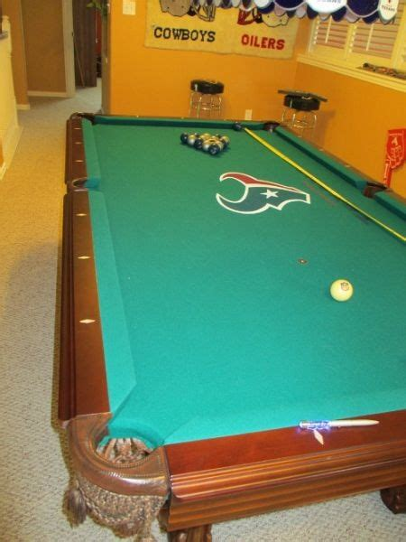 pool tables houston custom felt texans pool table legacy billiards solid maple in pristine condition texans