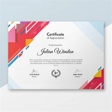 Certificate Psd Template Free