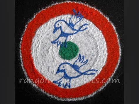 rangoli themes for republic day make simple rangoli in 2 3 or 4 steps kolam by sudha balaji
