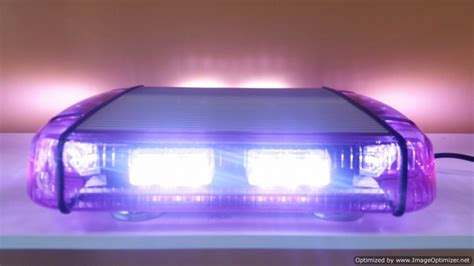purple led light bar emergency warning light bars automo lighting led