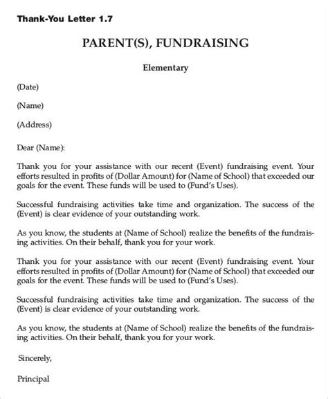 Fundraising Event Thank You Letter sle thank you letter for fundraising event docoments